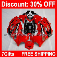 7gifts Red Black Full Fairing Kit For SUZUKI GSX600F Katana ...