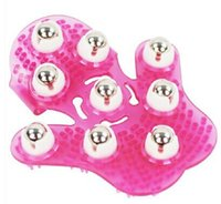 Pink New Palm Shaped Body Massager 360 Degree Spin 9 Piece S...