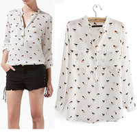 Wholesale Dog Print Blouse - Buy Cheap Dog Print Blouse from ...