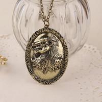 Chanson de glace et de feu colliers Jeu de la maison des trônes Lannister Badge logo bronze Collier pendentif Lion Collier pendentif Cersei