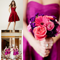 Short Purple Bridesmaid Dresses For Juniors Girls Women Lady...