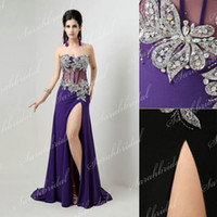 In Stock Chiffon Purple Black Beauty Contest Pageant Evening...