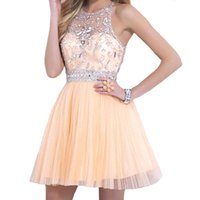 Hot Selling A Line Short Homecoming Dresses 2015 Crystal Bea...