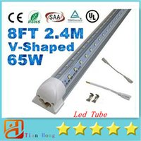 8FT V- Shaped 65W Integrated T8 Led Tubes Light Dual Row SMD ...
