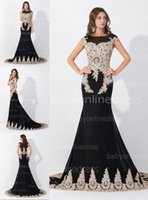 Lace Mermaid Evening Dresses 2015 Real Image Sheer Crew Neck...