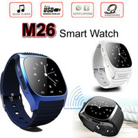 Smartwatches M26 Bluetooth relógio inteligente Com LED Alitmeter Music Player pedômetro Para a Apple IOS inteligente Android Phone GV08S DZ09