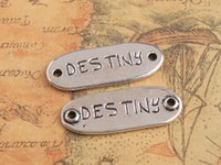 20PCS Antiqued Silver WISH DREAM Word Connector Links 33x13m...