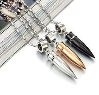 Fashion Bullet Necklace Jewelry Vintage Punk Style Bullet Ne...
