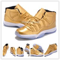 Newest Arrival Wholesale Basketball Shoes JXI Gold Genuine L...