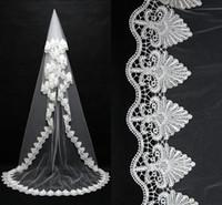 2016 Long Lace Wedding Veil Exquisite Cheap Bridal Veil One ...