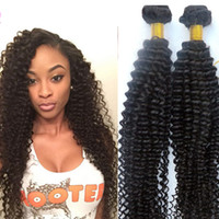 Brazilian hair weaves Human hair bundles Kinky Curly 8~34inc...