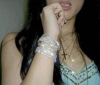 Fashion Luxury Wedding Bracelets Bangles Vintage 925 Silver ...