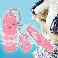 Female Sex Toys Pink Double Vibrating Jump Eggs Mini Vibrato...