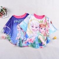 Frozen fever elsa and anna t- shirt 2015 NWE summer girl Shor...
