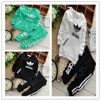 Top Hoodie + pants suits Outfits autumn spring toddler baby ...