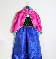 5pcs New Children Frozen Dress Anna Elsa Cape Girls Princess...