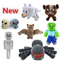 New Arrival Minecraft Action Figure Soft Plush Toys Spider B...