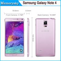Original Samsung Galaxy Note 4 / N9100 Android 4.4 RAM 3GB 16GB 16MP Cámara FDD-LTE red WCDMA GSM Reformado del teléfono móvil 002 866
