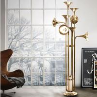 Nordic Creative Delightfull Horn Chandelier Floor Lamp Moder...