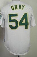 2015 #54 Sonny Gray White Cool Base Stitched Baseball Jersey...
