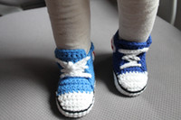 1pair Baby crochet sneakers tennis booties infant sport shoe...