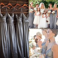 Silver Gray Taffeta Bridesmaid Dresses Cheap Under 90$ Free ...