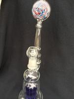 Bongs et tuyaux à eau 8-bras Perc vaporisateur Bubble - Dôme, verre ongle et coulisse Bowl