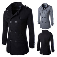 Wholesale Mens Military Style Trench Coat - Buy Cheap Mens ...