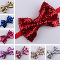 13cm length bowknot sequin hair bow, bow headband, sequin bow ...