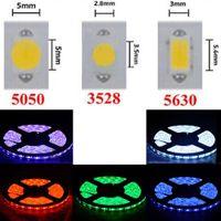 Высокая Birght 5M 5050 3528 5630 Водонепроницаемый Светодиодные полосы света теплый белый Красный Зеленый RGB Гибкая 5M ролл 300 светодиодов 12V открытый ленты