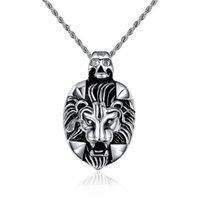 Popular men jewelry lion necklace pendant jewellery free sta...