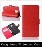 Crazy Horse de la PU del tirón del cuero de la cubierta del teléfono móvil de la bolsa del caso para Samsung I8260 Galaxy Core / Core plus G3500 / Core Avance I8580 / S Duos S7562