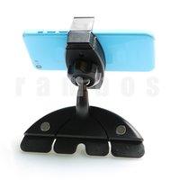 Rotación de la ranura de CD del sostenedor del montaje del coche del teléfono inteligente horquilla del montaje para el iPhone para Samsung para el GPS para el iPod