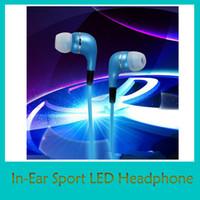 Led Earphones In- Ear Sport Earphone Flashing Stereo Headset ...