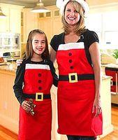 2015 Hot sale Christmas clothes Apron Both- side Raised Flann...