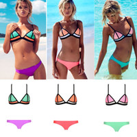 Newest Sexy triangle Swimwear for Women Patchwork Bikini wit...