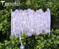 50ft Wedding curtain acrylic Crystal Curtain Transparent wir...