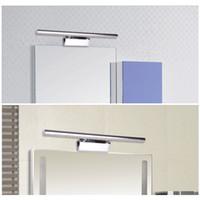 bagno illuminazione dello specchio bianco caldo / bianco Lampade da parete 5050 SMD LED 7W di alta qualità illuminazione dello specchio-anteriore L0274 in acciaio inox