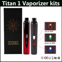 Титан 1 сухой травы Испаритель комплекты переменной температуры 2200mAh Titan1 Starter Kit против Titan 2 Испаритель комплект