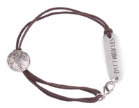 10PCS Fashion Brown Cord Word ID Bracelet