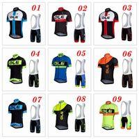 ALE 2016 Cycling Jerseys Set Short Sleeve With Padded Bib Tr...