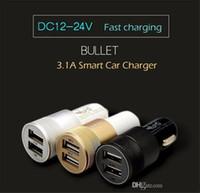 Meilleur métal double port USB Chargeur voiture universel 2 Amp pour Apple iPhone iPad iPod Samsung Galaxy Motorola Droid Nokia Htc US03