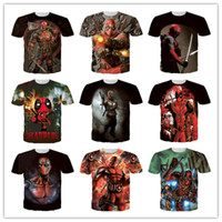 Venda imperdível! Outdoor running t-shirt Marvel Comics 3D Deadpool super-herói cartoon jogo X-Men verão t shirts 200PCS 2051