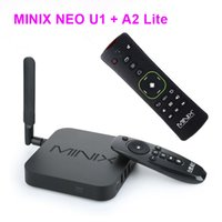 MINIX NEO U1 + NEO A2 souris lite air Android TV Box Amlogic S905 Quad Core 2G / 16G 802.11ac 2.4 / 5GHz WiFi H.265 HEVC 4K HD XBMC IPTV