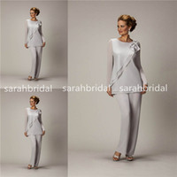 2015 Silver Mother' s Pants Suits For Mother of The Brid...