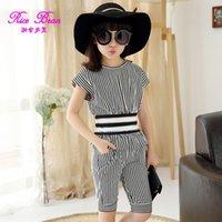 Kids 2015 summer big girls suit Korean fashion casual short-...