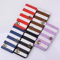 Cortex de texture de soie de haute qualité Rainbow Stripes iphone 6splus / 6plus cas de téléphone portable iphone6 / 6s 6plus / 6s plus boîtier de téléphone portable