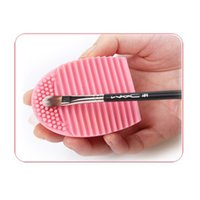 Hot Brush Gant de nettoyage MakeUp Lavage Brosse Scrubber Conseil Cosmétique Brushegg Cosmetic Egg 7colors 0601057 from kindboy