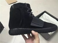 2016 New Yeezy 750 Triple Black Basketball Shoes For Men Out...