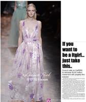 Hot Sale New fashion Printed A Line Deep V Sexy Sleeveless L...